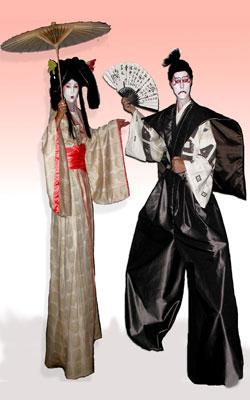 sc 1 th 284 & samurai u0026 geisha stilts Japanese